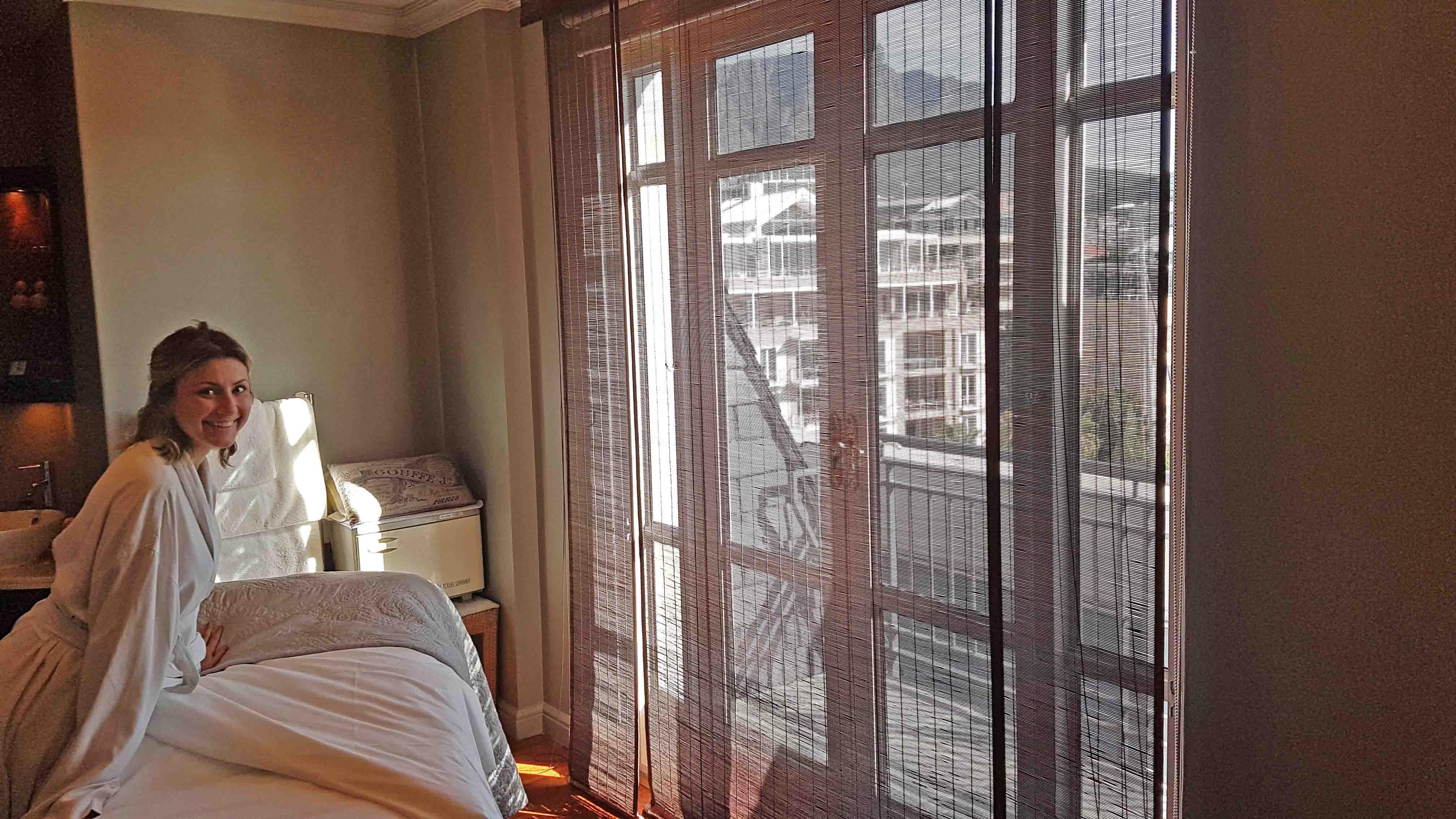 Sala de tratamento do Spa do Hotel Cape Grace, em Cape Town - e eu tooooda feliz que ia fazer massagem!!