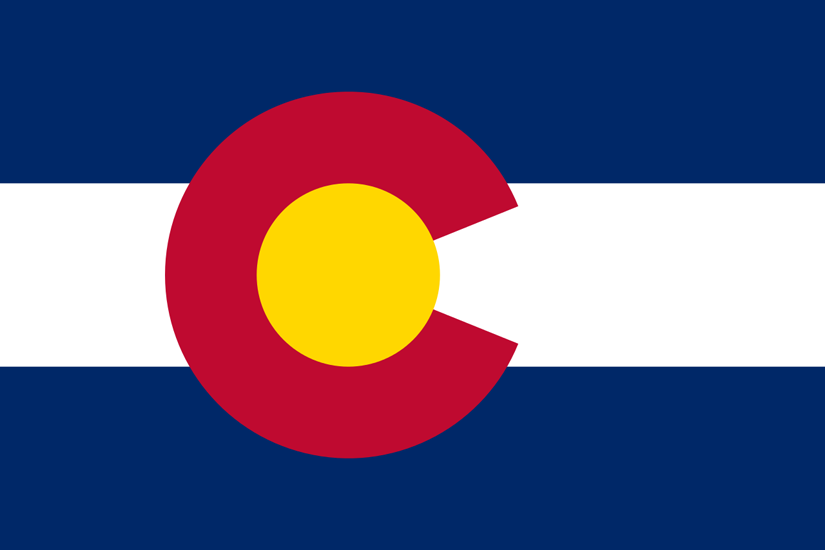 Bandeira do estado americano do Colorado