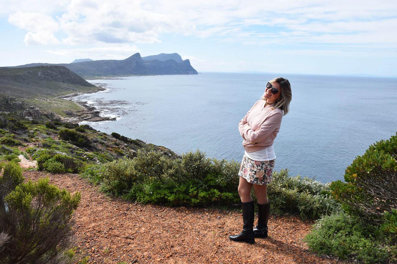 Um dos pontos de observação de baleias (não vi nenhuma) dentro do parque do Cabo