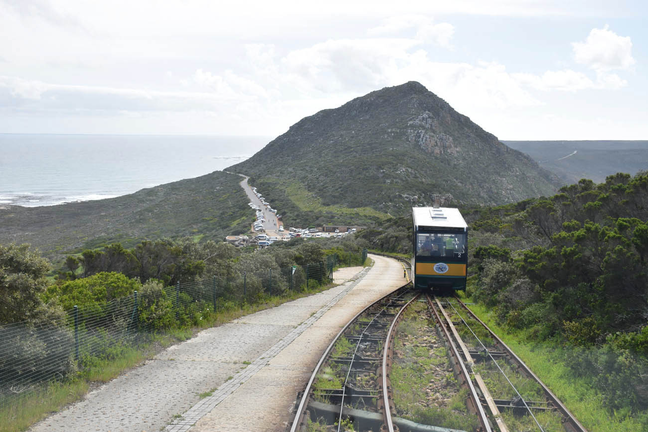 Funicular The Flying Dutchman que leva os turistas ao Cape Point