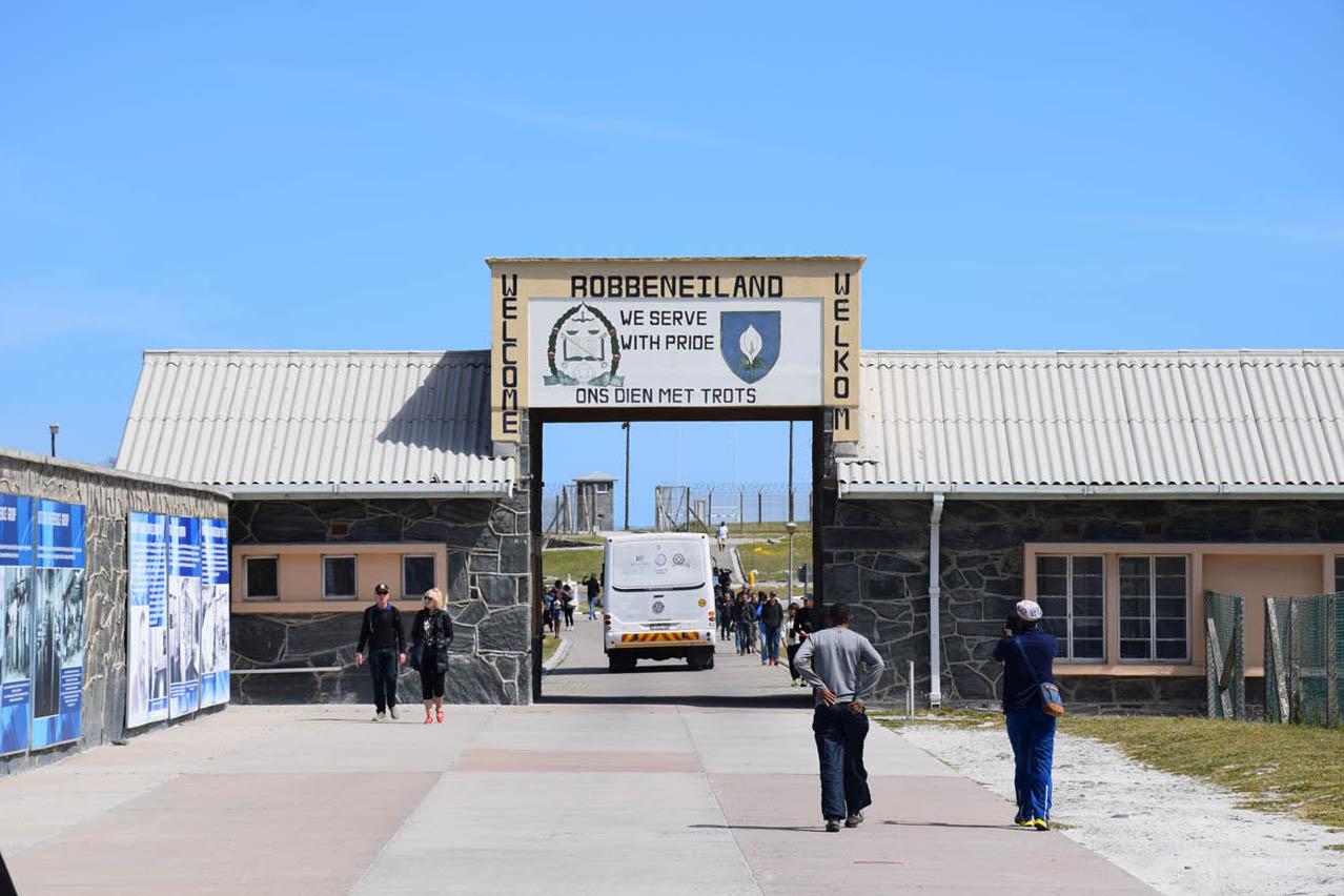 Chegando na Robben Island, onde Mandela ficou preso