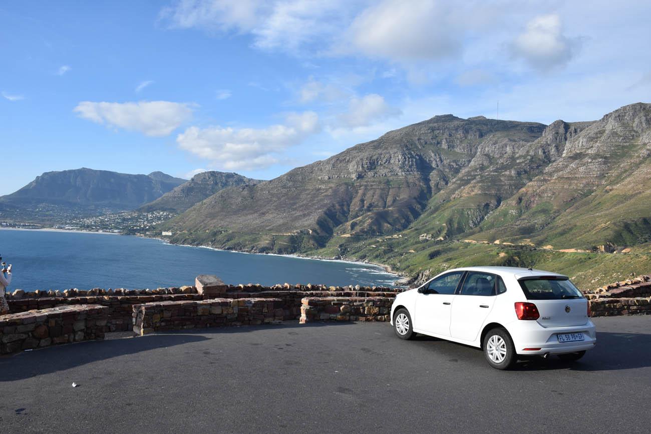 O carro que alugamos para explorar a Cidade do Cabo