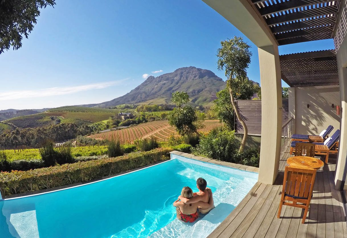 Piscina privativa do Luxury Lodge - Delaire Graff Estate - Stellenbosch