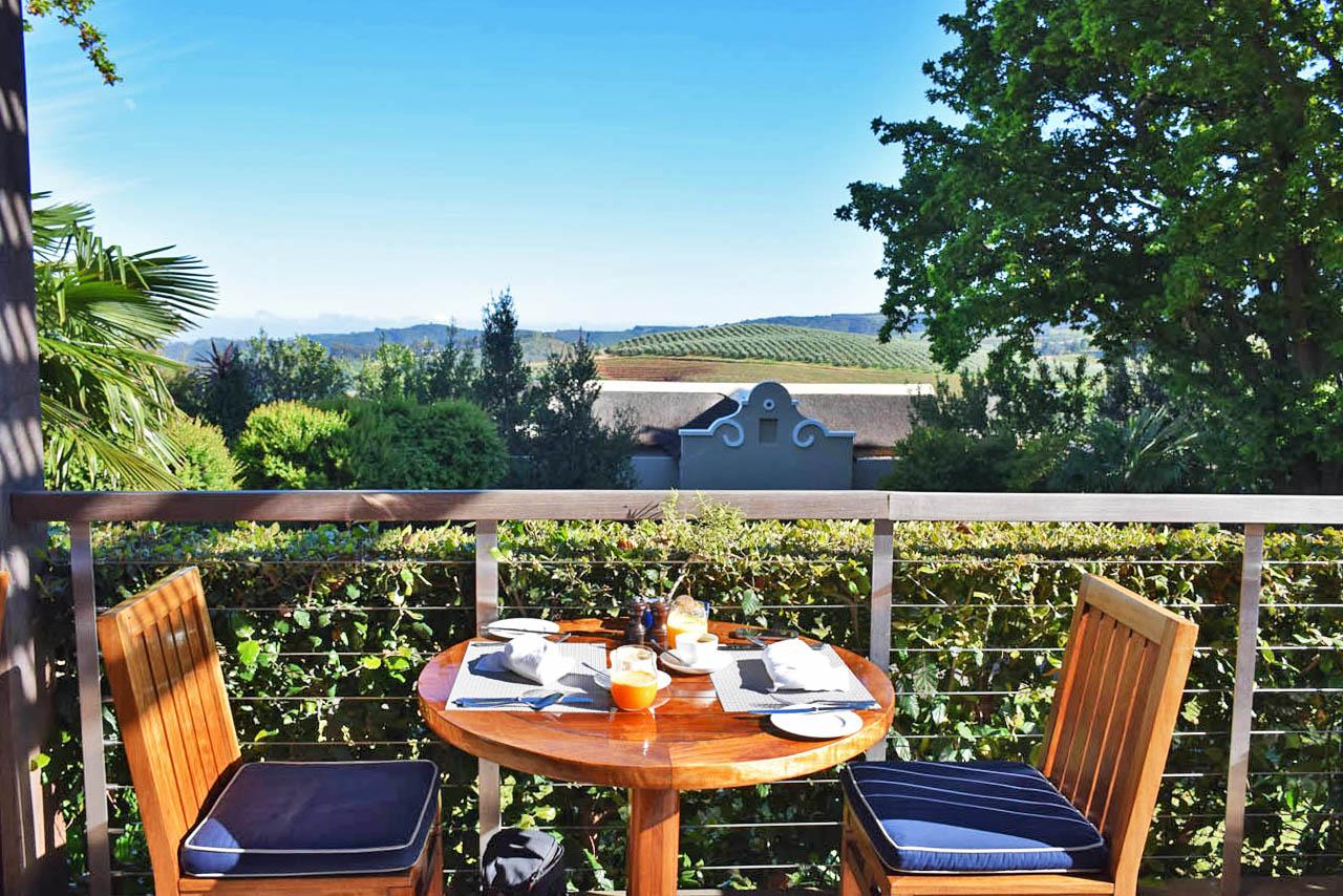 Café da manhã do Delaire Lodge servido no Restaurante Indochine   Créditos: Lala Rebelo