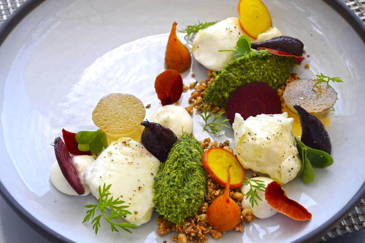 Salada para comer com os olhos! Delaire Graff Restaurant - Stellenbosch | Créditos: Lala Rebelo
