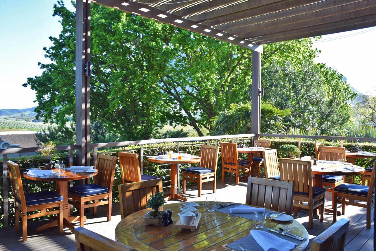 Área externa do Restaurante Indochine - Delaire Graff - Stellenbosch   Créditos: Lala Rebelo