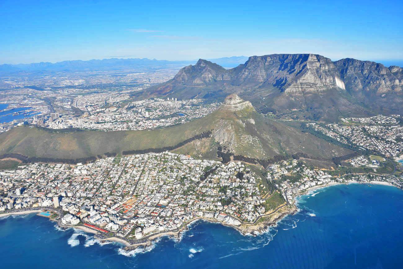Sobrevoando a Cidade do Cabo de helicóptero - NAC Helicopters