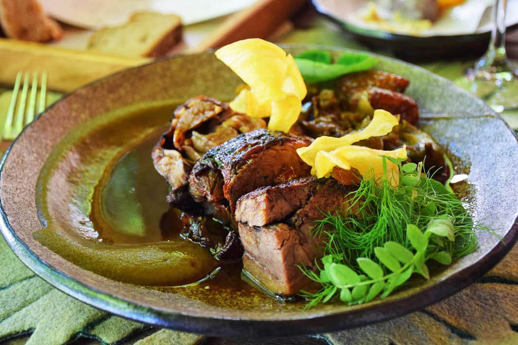 Costela (prato do marido) - Restaurante Pierneef - Vinícola La Motte - Franschhoek | Créditos: Lala Rebelo