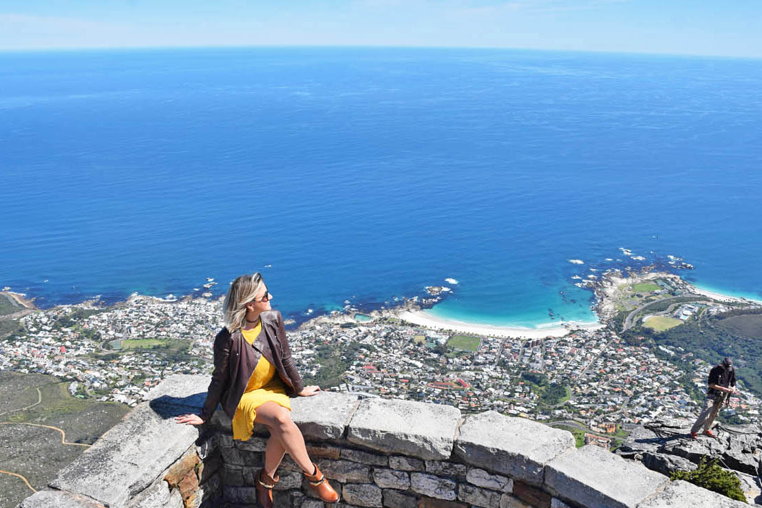 Camps Bay vista do alto da Table Mountain - Cidade do Cabo