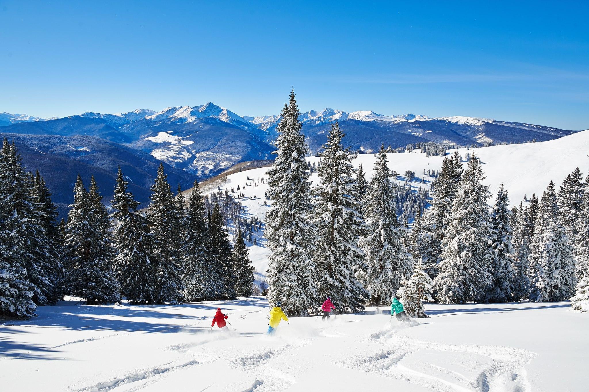 A estação de esqui de Vail no inverno | foto: divulgação