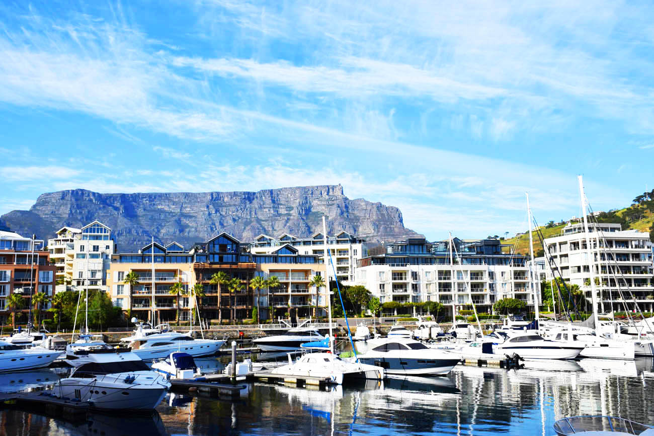 Vista do Cape Grace Hotel para a Table Mountain