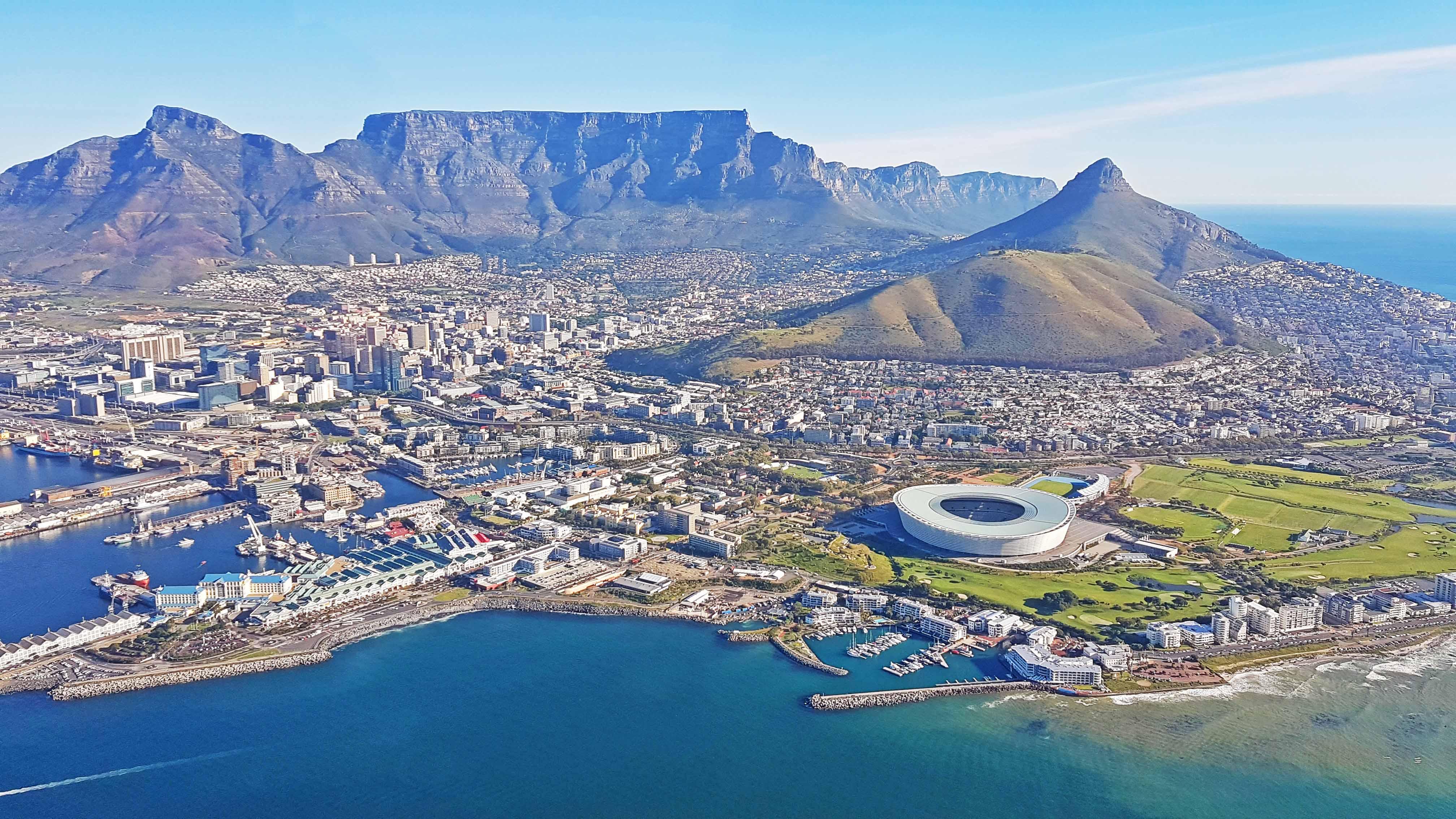 Cidade do Cabo - África do Sul - passeio de helicóptero