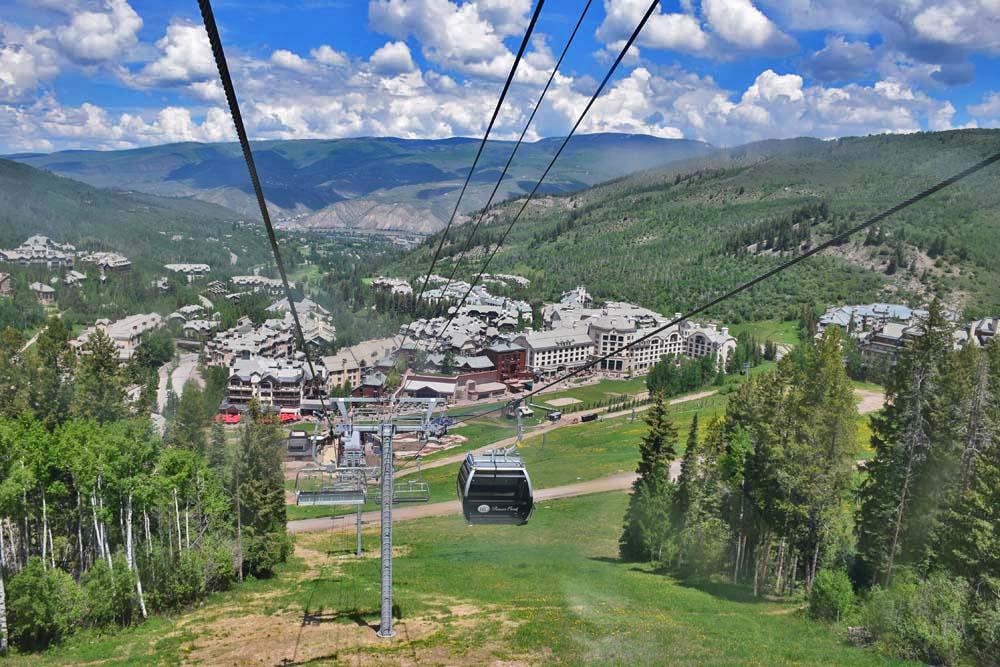 Subindo de lift para o alto da montanha - Beaver Creek