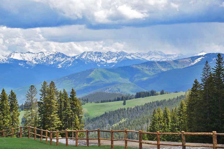 Lindas montanhas... Parece um quadro, né?! Beaver Creek