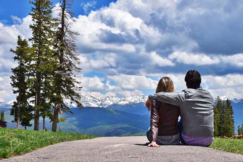 Beaver Creek Mountain, Colorado, no verão
