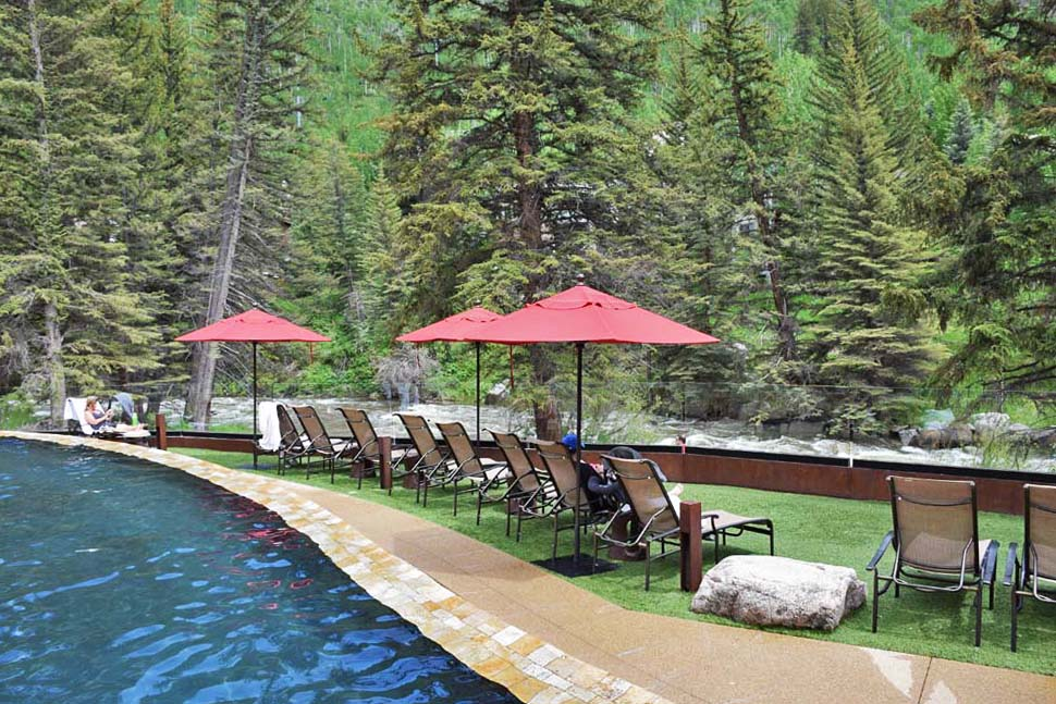 Piscina aquecida do Hotel Vail Cascade - Colorado