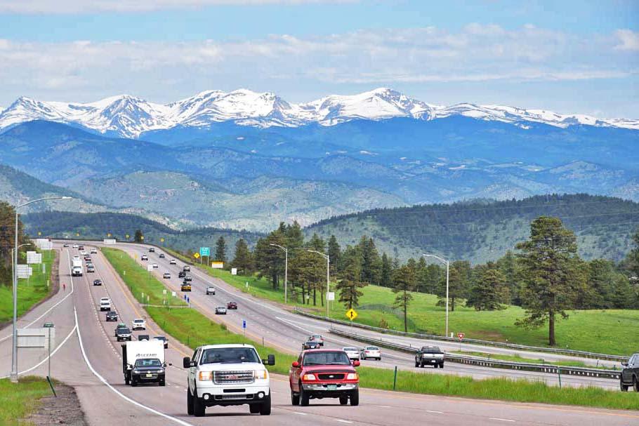 A estrada para ir de Denver a Vail e Beaver Creek é linda!