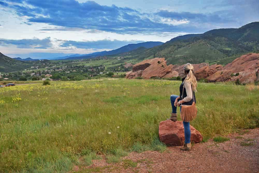 Chegando no Red Rocks Amphitheatre