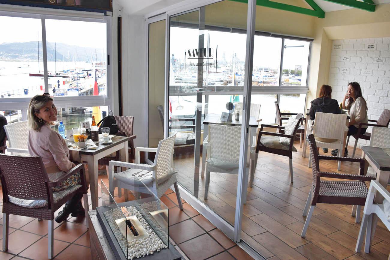 Restaurante Saveur, em Simons Town, perto da praia dos pinguins Boulders Beach