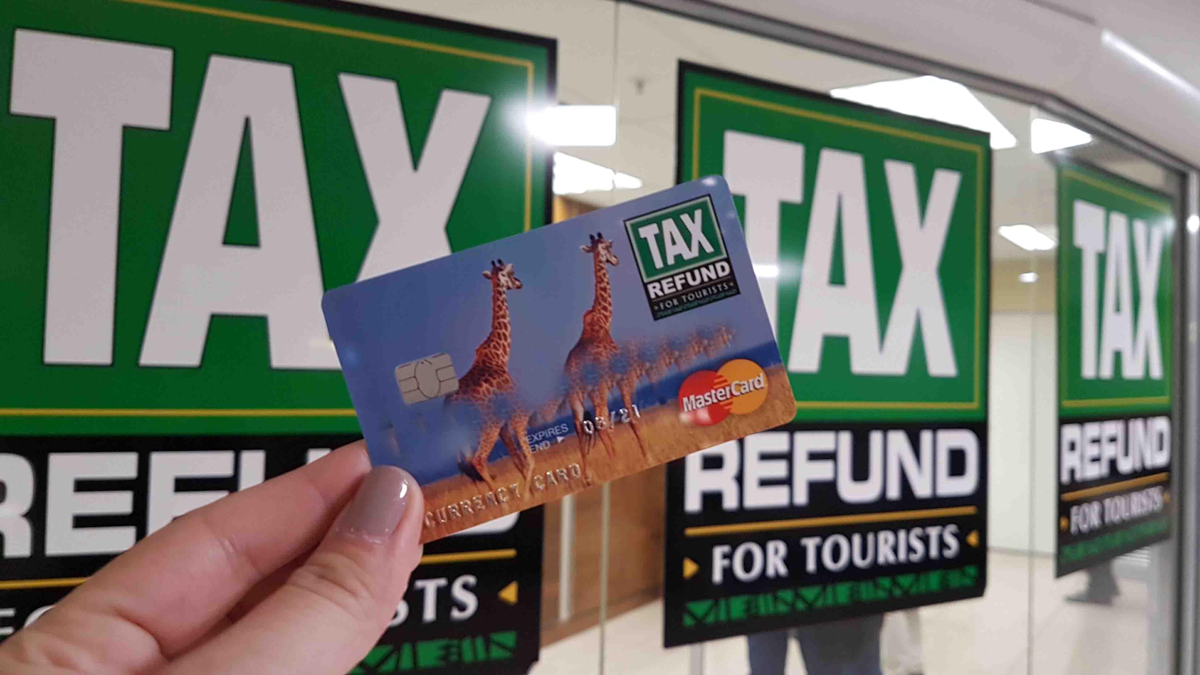 Cartão de tax refund da África do Sul - fofo, né?!