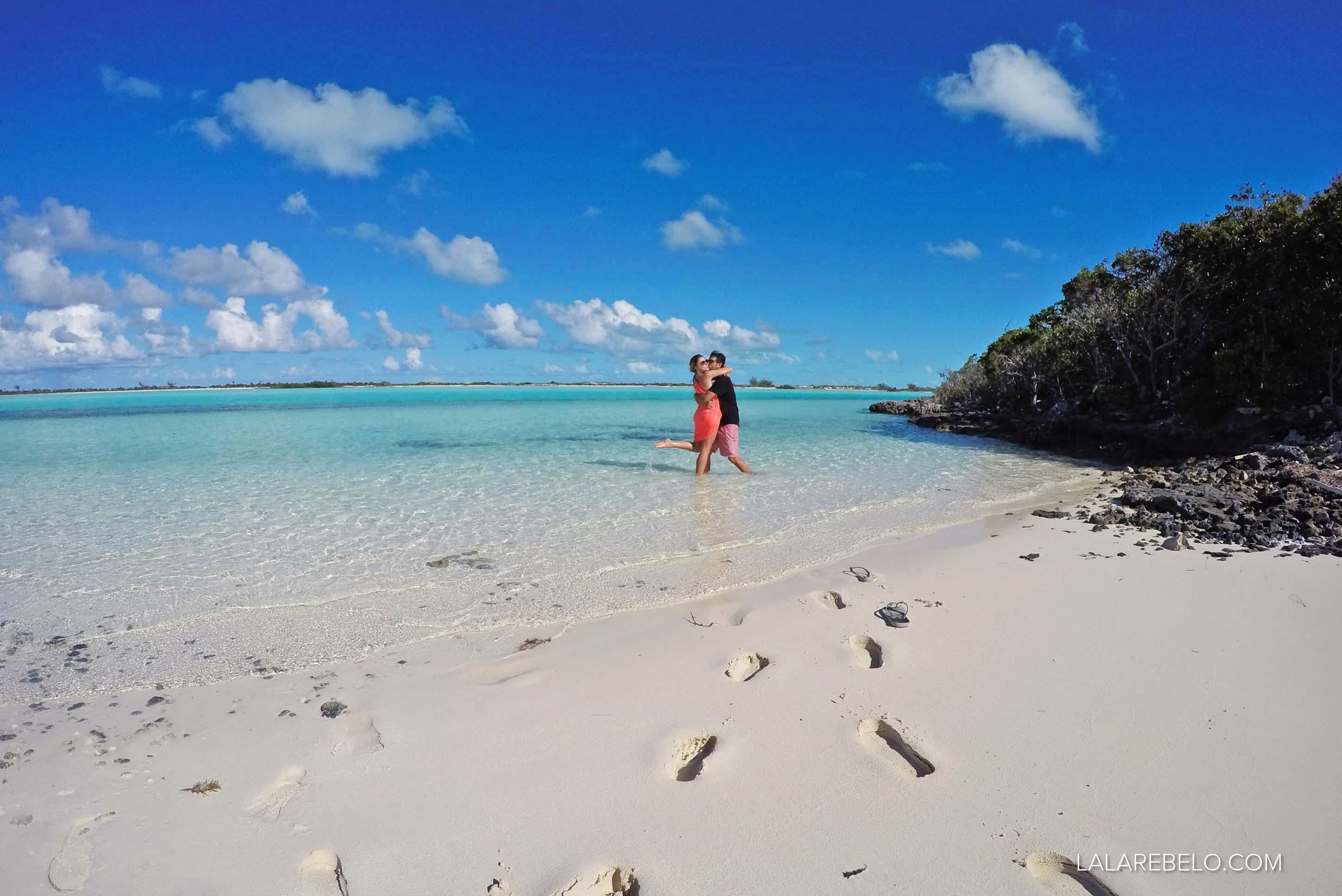 Uma praia só para nós! Haulover Bay - Rolle Town - Exuma - Bahamas
