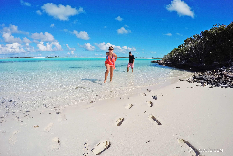 Uma praia só para nós!! Haulover Bay - Great Exuma - Bahamas