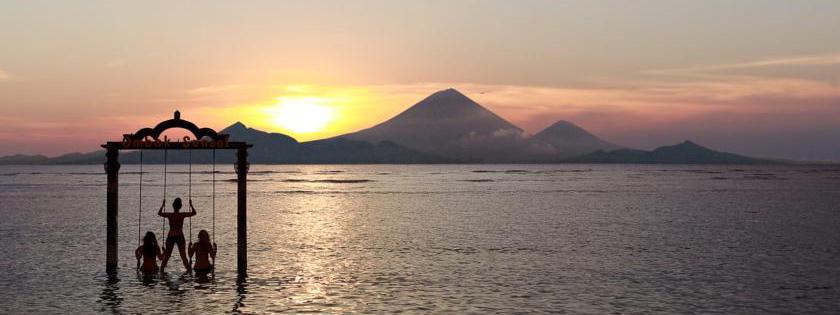 Pôr do sol no hotel Ombak Sunset em Gili Trawangan, Indonésia | Créditos: divulgação