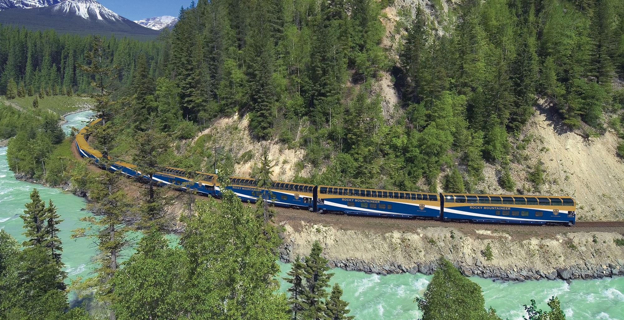 Trem Rocky Mountaineer, no Canadá | créditos: divulgação Rocky Mountaineer