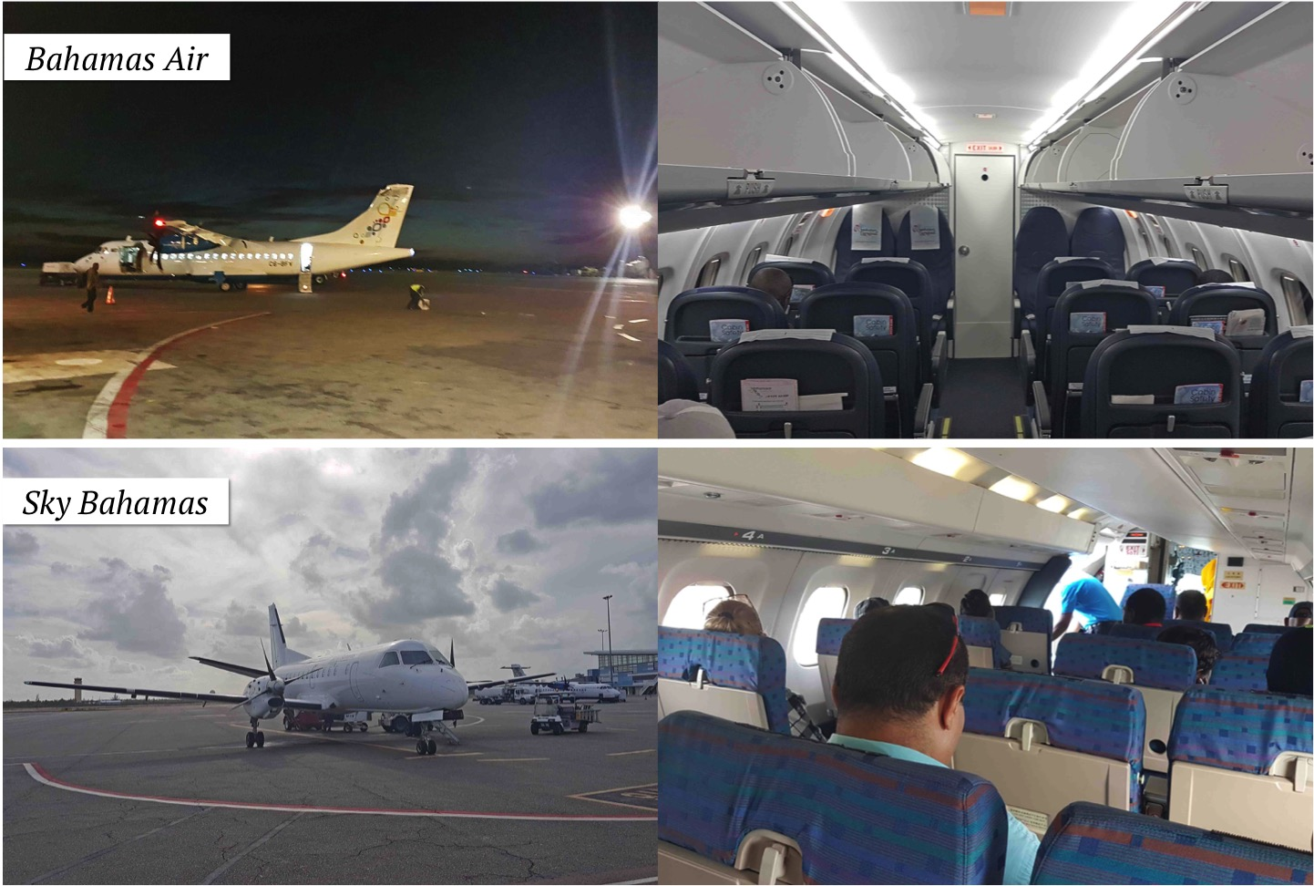 Aeronaves da Bahamas Air e da Sky Bahamas