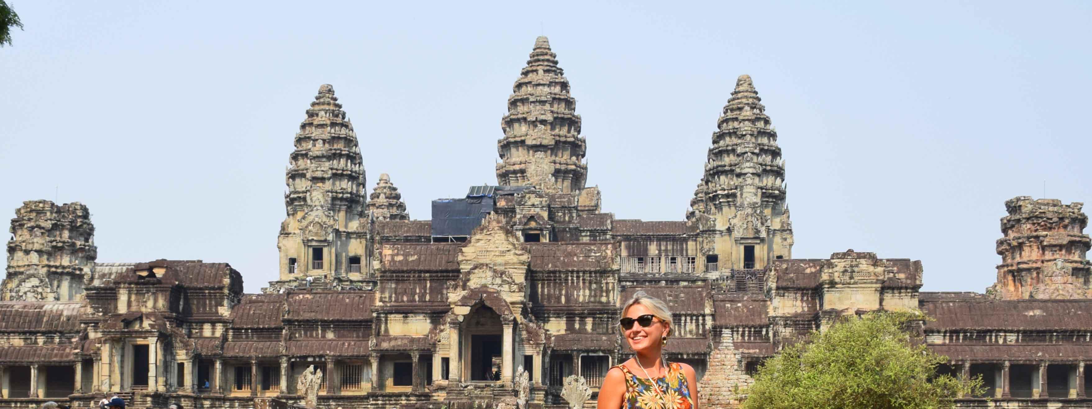 Templo Angkor Wat, em Siem Reap, Camboja | Créditos: Lala Rebelo