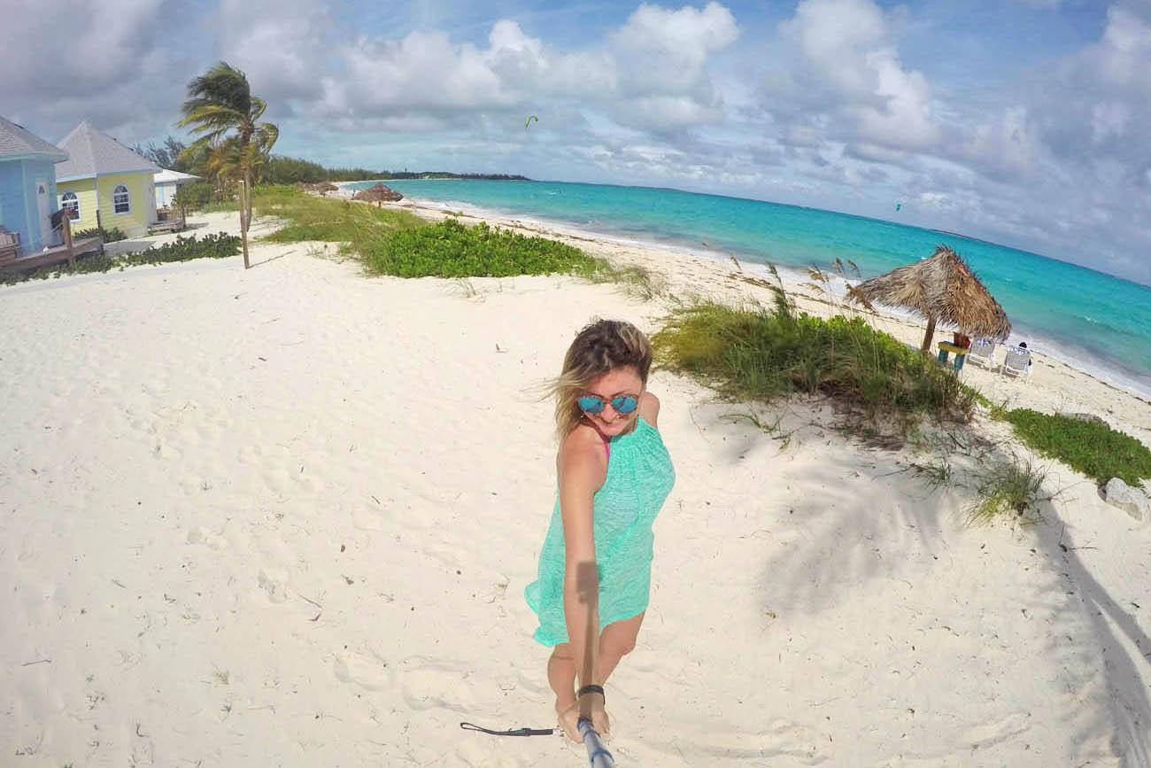 Flamingo Bay (a praia do Paradise Bay Hotel) - Exuma - Bahamas