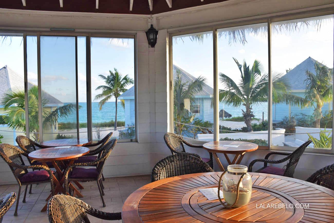 Restaurante La Fourchette do hotel Paradise Bay - Great Exuma - Bahamas