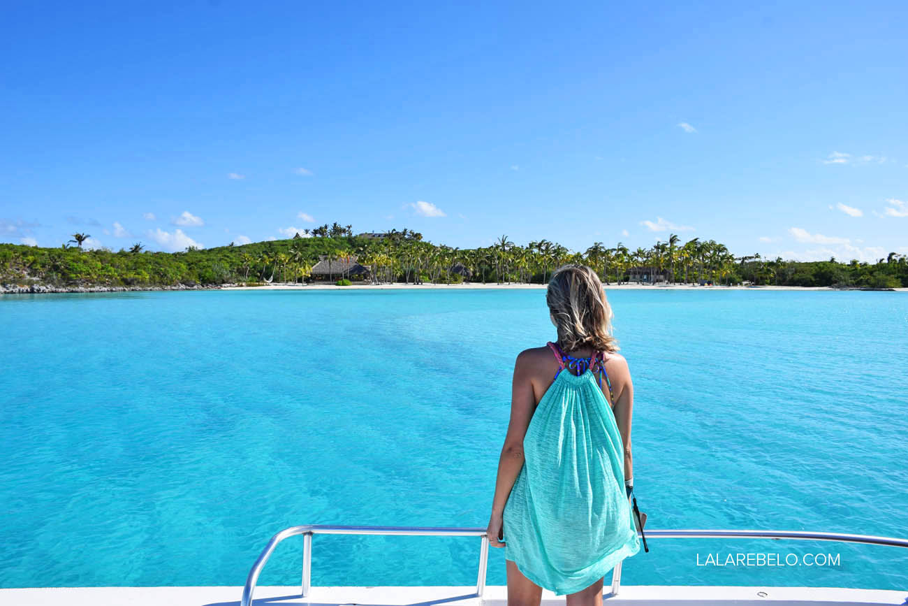 Musha Cay, de David Copperfield | Passeio de barco por Exuma Cays