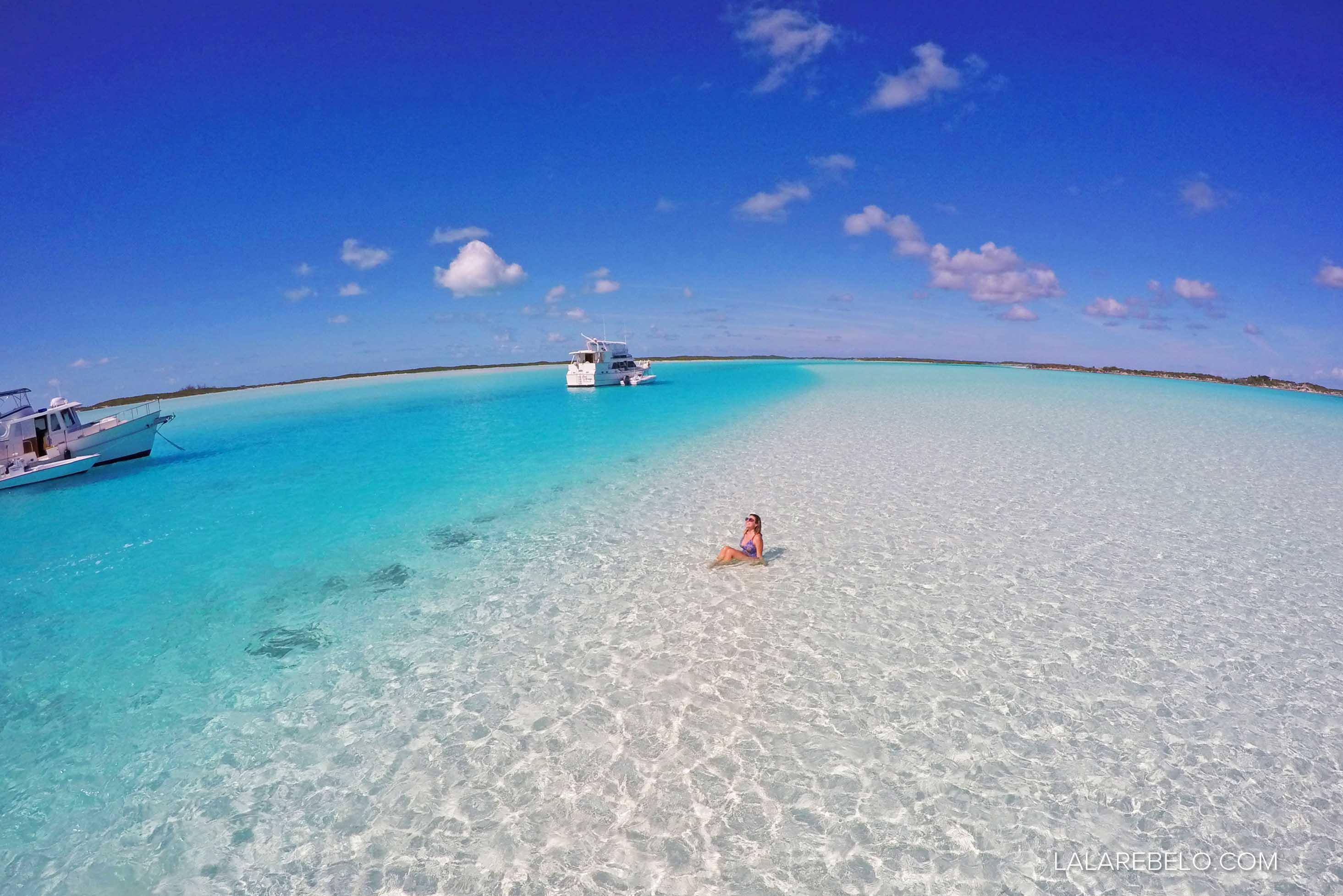 Sandbar em Exuma Cays - Bahamas