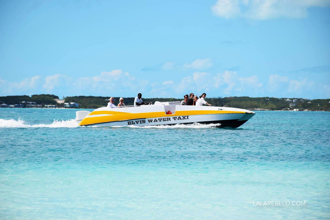 Elvis Water Taxi - de George Town a Stocking Island, em Exuma - Bahamas