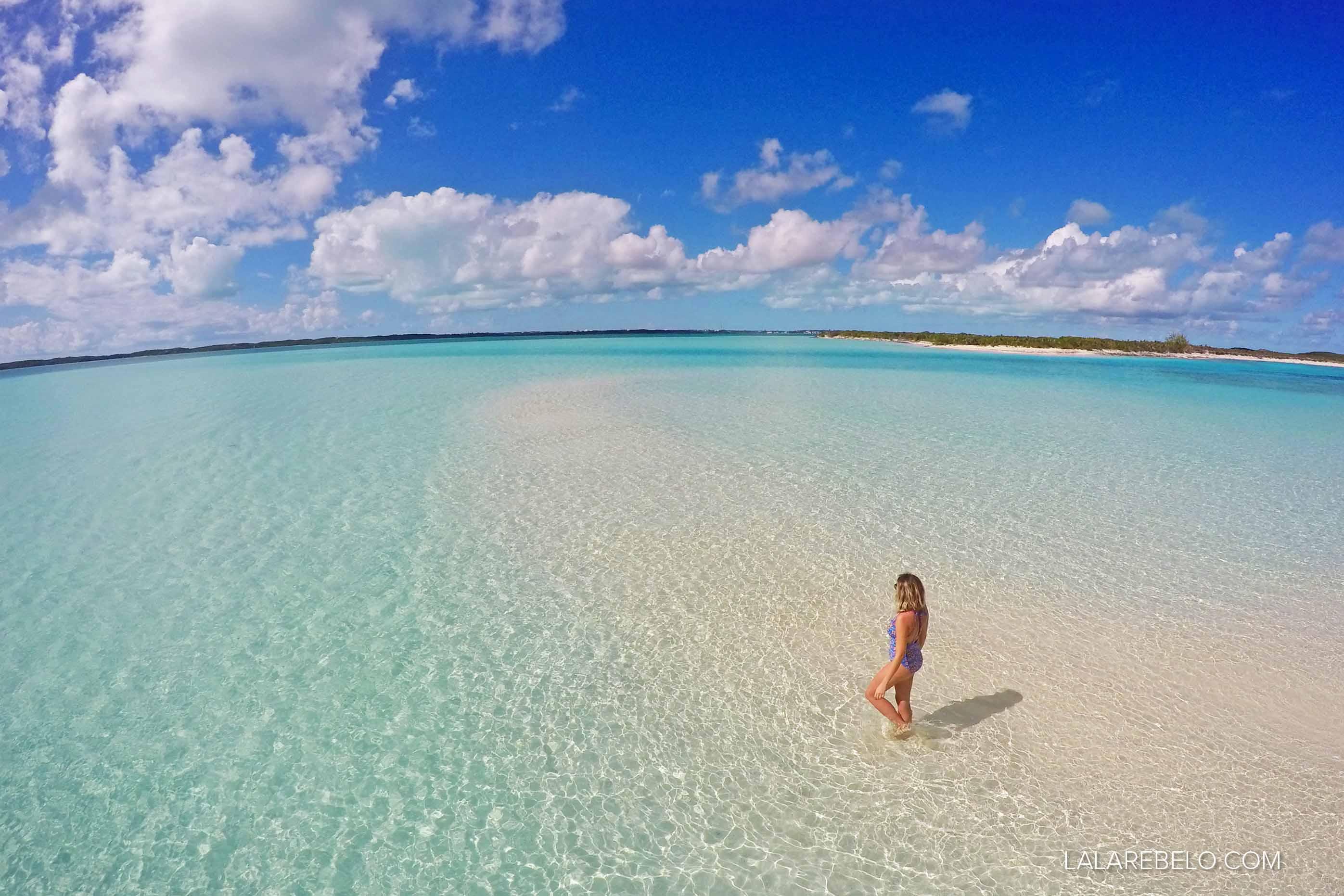 In looooove por esse lugar! Nosso banco de areia em Stocking Island - Exuma - Bahamas