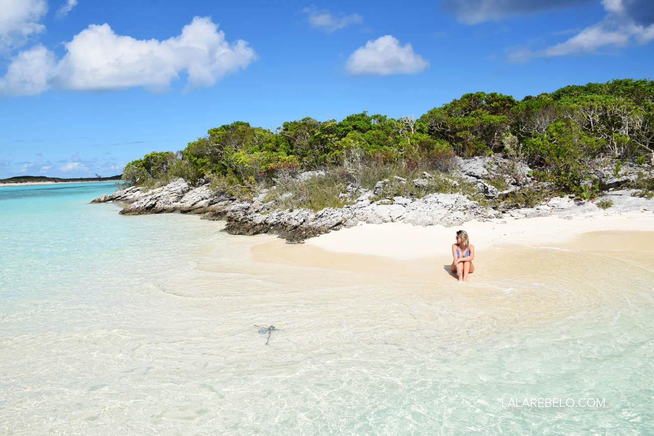 Praia que achamos só pra gente em Elisabeth Island/Stocking Island - Exuma - Bahamas