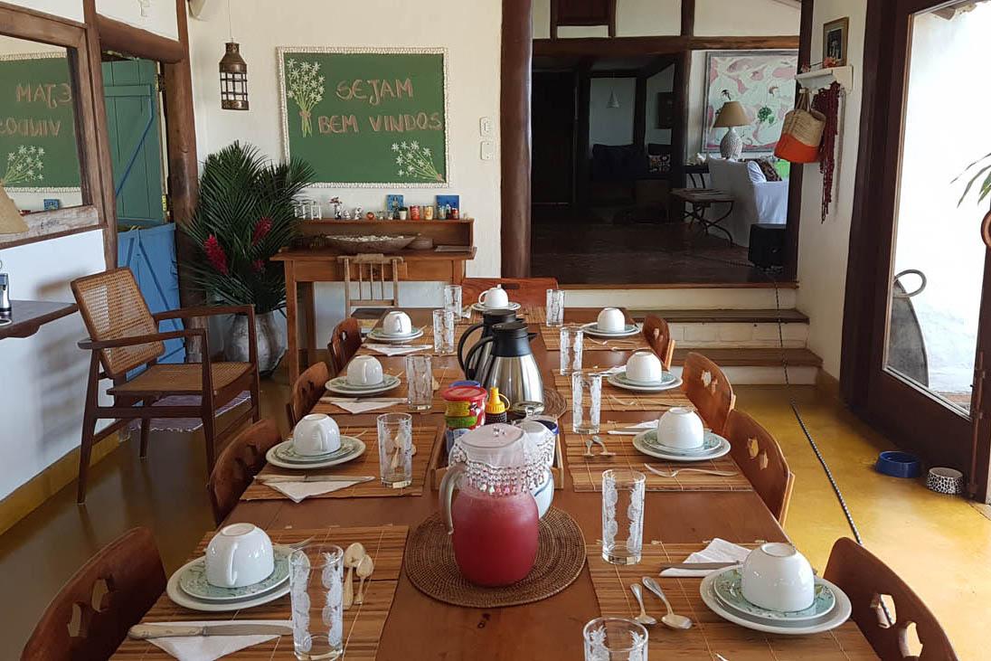Sala de jantar da Casa Grande - Casas da Lia - Trancoso | Créditos: Lala Rebelo