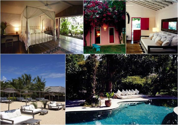 UXUA Casa Hotel & Spa - Casa Seu Pedrinho (acima), piscina e barraca de praia (abaixo) | Créditos: divulgação