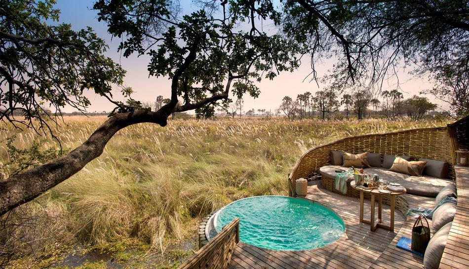 &Beyond Sandibe Okavango Safari Lodge em Botswana | Créditos: divulgação