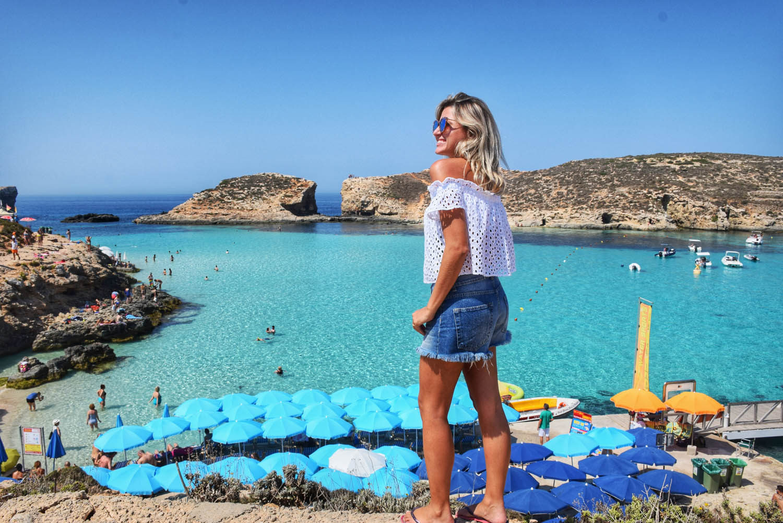 Blue Lagoon na Ilha de Comino, em Malta