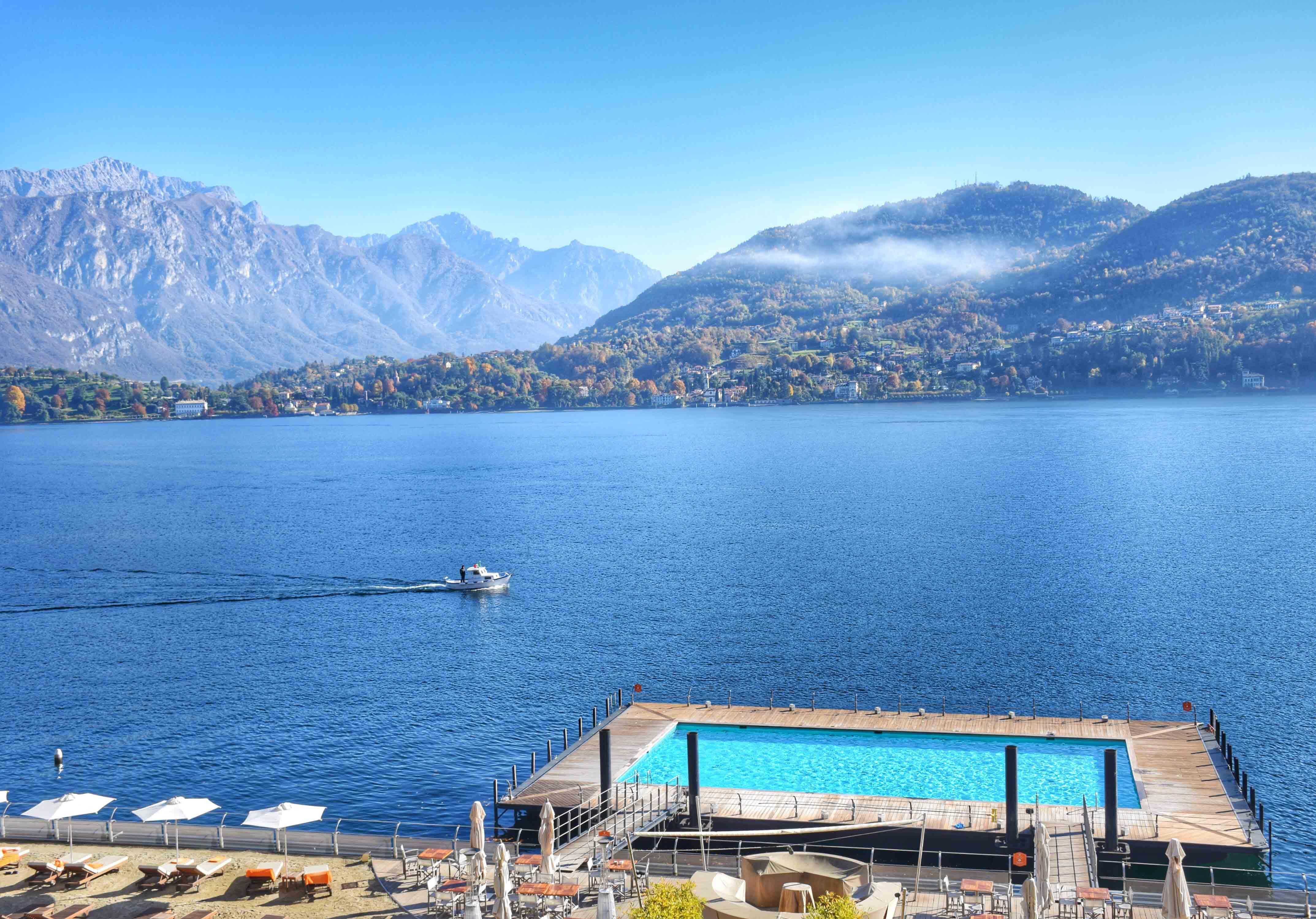 Vista das janelas do Grand Hotel Tremezzo no Lago di Como, Itália | foto: Lala Rebelo