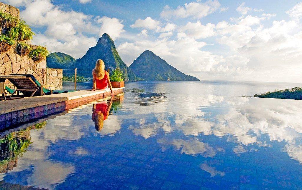 Jade Mountain Resort em Saint Lucia, no Caribe | foto: divulgação
