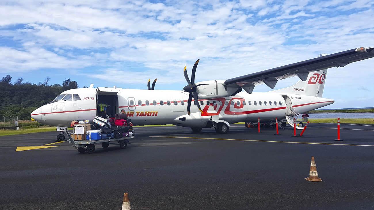 Aeronave da Air Tahiti - vôos domésticos, entre as ilhas