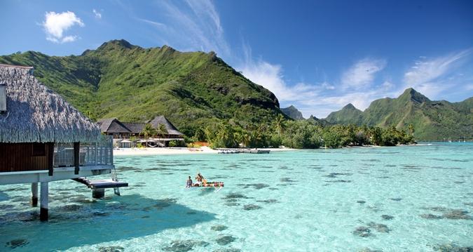 A ilha de Moorea e o Hotel Hilton, Polinésia Francesa | foto: divulgação