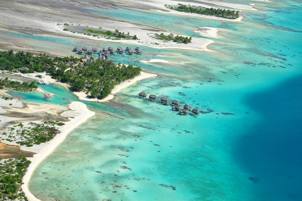 Ilha Tikehau e o hotel Pearl Beach Resort | foto: divulgação