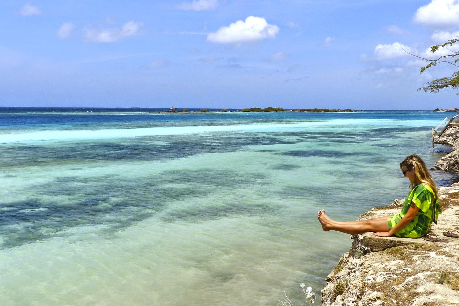 Praia de Mangel Halto, em Aruba | foto: Lala Rebelo