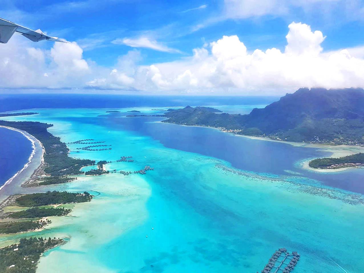 Vôo da Air Tahiti, de Taha'a para Papeete, passando por Bora Bora | foto: Lala Rebelo
