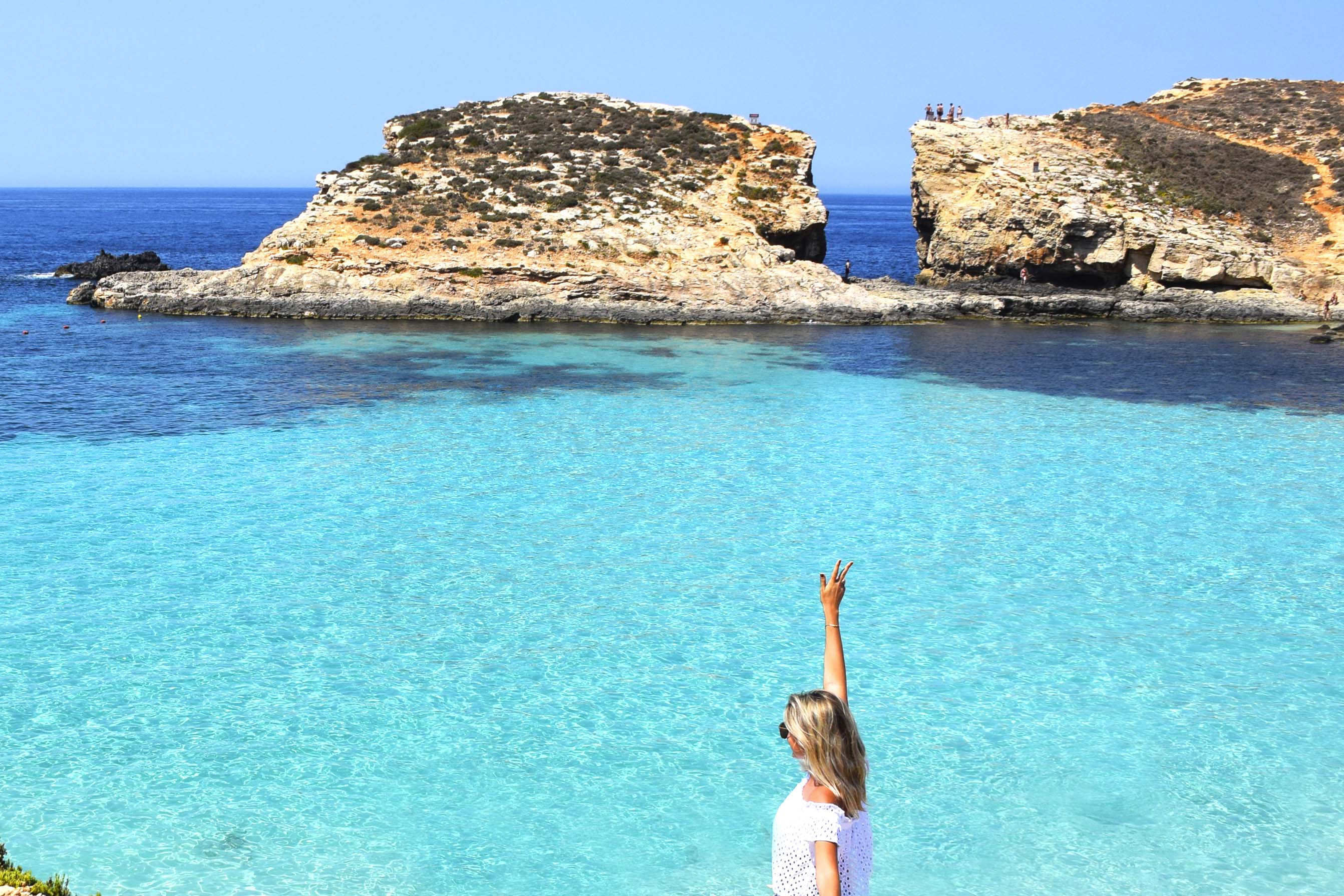 Blue Lagoon na Ilha de Comino, em Malta | foto: Lala Rebelo