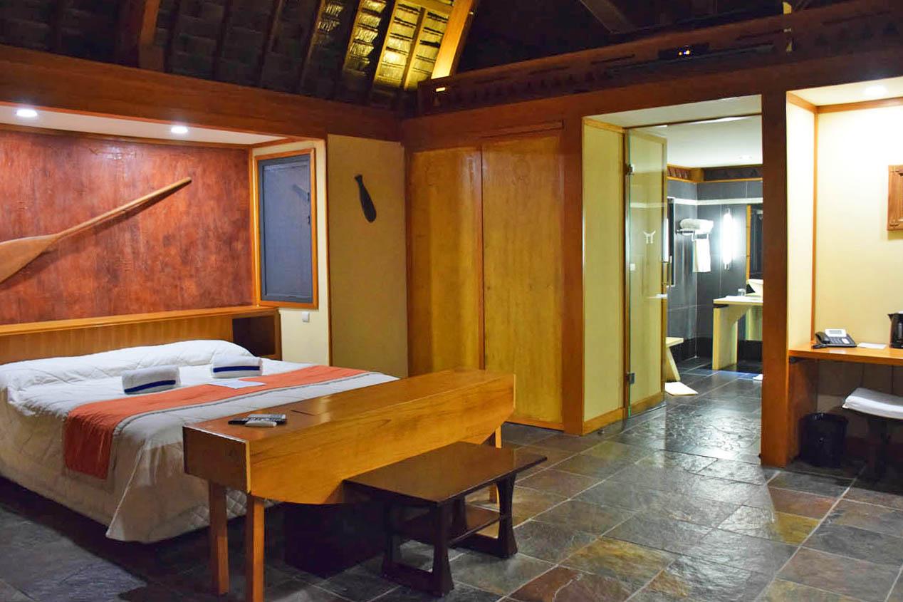 Meu quarto: Premium Lake Bungalow - Hotel Maitai Lapita Village - Huahine | foto: Lala Rebelo